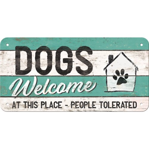 Hängeschild Dogs welcome